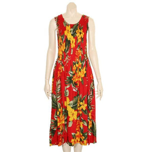 Hawaiian Long Smock Dress - Assorted Colors