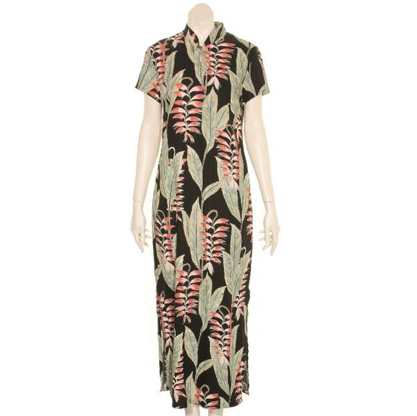 3eda00bacce Heliconia Garden Mandarin Long Dress