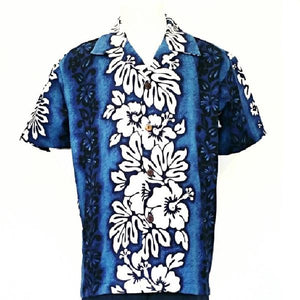 Hibiscus Panel Boys Aloha Shirt