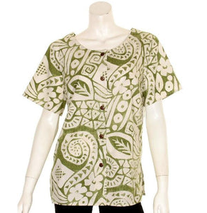 Island Stamps Round Neck Top