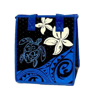Kapu Midnight  Petite Hawaiian Insulated Hot/Cold Reusable Bag