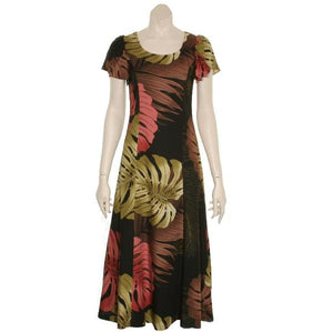Monstera Palm Kimi 2 Long Dress