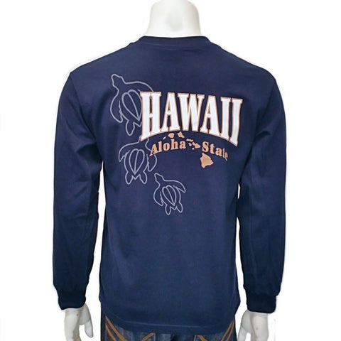 Hawaii  Long Sleeve Aloha State Honu T-Shirt