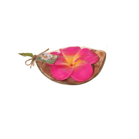 Pink Hawaiian Rose Coconut Candle