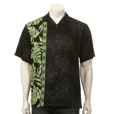Prince Kuhio Men's Aloha Shirt ~ Black/Green