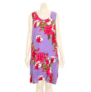 Island Tye Dye Tank Dress (110440) ~ Purple/Fuschia