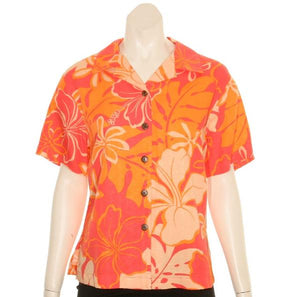 Royal Hibiscus Camp Blouse