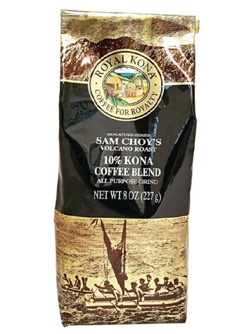 Royal Kona Sam Choy's Volcano Roast 10% Kona Blend (8oz)