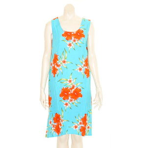 Island Tye Dye Tank Dress (110440) ~ Sky Blue/Orange