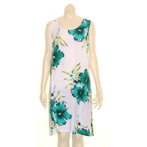 Island Tye Dye Tank Dress (110440) ~ White/Emerald