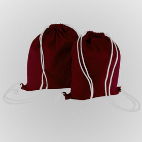 Burgundy Canvas Backpack Bags