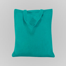 Turquoise Blue Natural Jute Bags