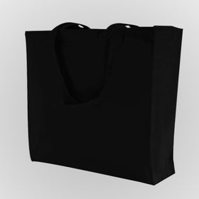 Black Canvas Gusset Bags