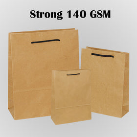 Strong Natural Brown Carrier Bags with Rope Handle