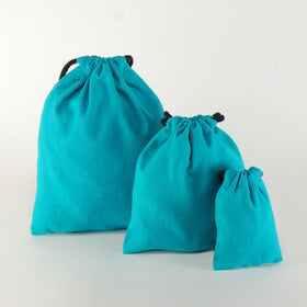 Aqua-blue-natural-cotton-drawstring-pouch-bags