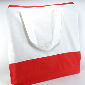 White Red Natural Cotton Two Colour Bags
