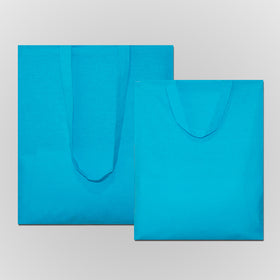 Turquoise Blue Natural Cotton Bags