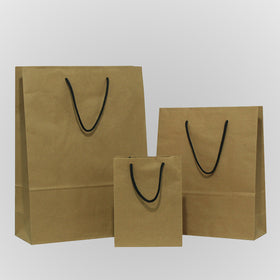 Natural Brown Rope Handle Paper Carrier Bags
