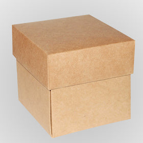 Kraft Gift Boxes With Lids | Natural Plain Gift Boxes - Carrier ...