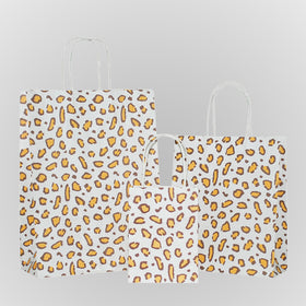 Leopard Brown Carrier Bag Twisted Handle