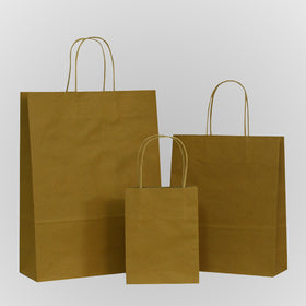 Natural Brown Twisted Handle Paper Carrier Bags
