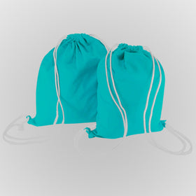 Turquoise Blue Canvas Backpack Bags