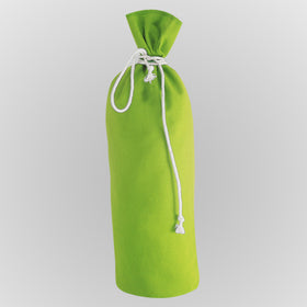 X Mas Green Canvas Bottle Drawstring Pouch Bags