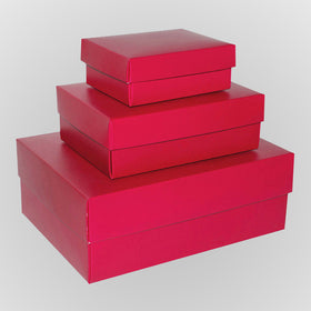 Hot Pink Rectangle Matt Laminated Gift Boxes - 2 Pieces