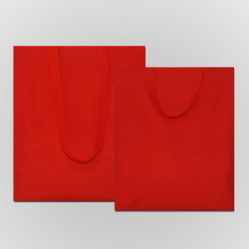 Red Natural Cotton Bags