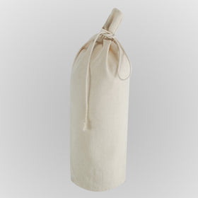 Plain Natural Canvas Bottle Drawstring Pouch Bags