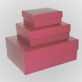Light Pink Rectangle Matt Laminated Gift Boxes - 2 Pieces