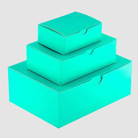 Aqua Green Rectangle Gloss Laminated Gift Boxes - 1 Piece