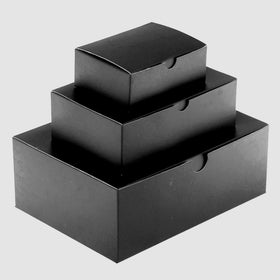 Black Rectangle Gloss Laminated Gift Boxes - 1 Piece