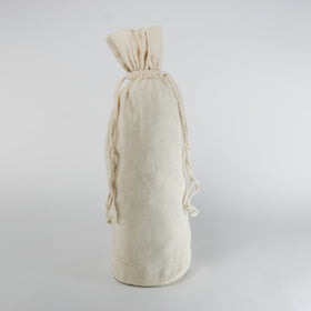 Natural Cotton Bottle Drawstring Gift Bags