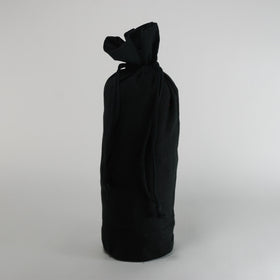 Black Natural Cotton Bottle Drawstring Gift Bags