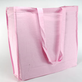 Light Pink Natural Cotton Gusset Bags