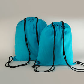 Turquoise-blue-natural-cotton-backpack-bags