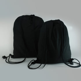 Black Natural Cotton Backpack Bags