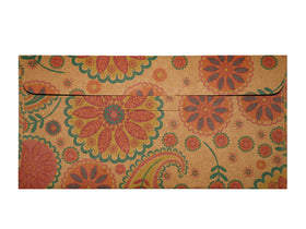 Ethnic Paisley Brown Gift Envelopes