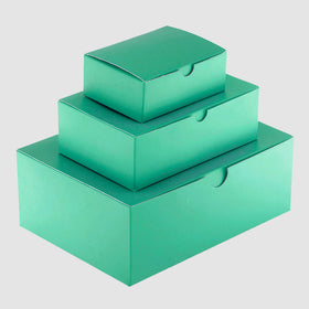 Aqua Green Matt Laminated Rectangle Gift Boxes - 1 Piece