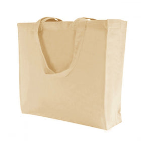 Plain Natural Canvas Gusset Bags