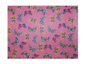 Floral Butterflies Hot Pink Gift Wrapping Sheets