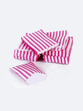 Hot Pink Candy Stripe Paper Bags