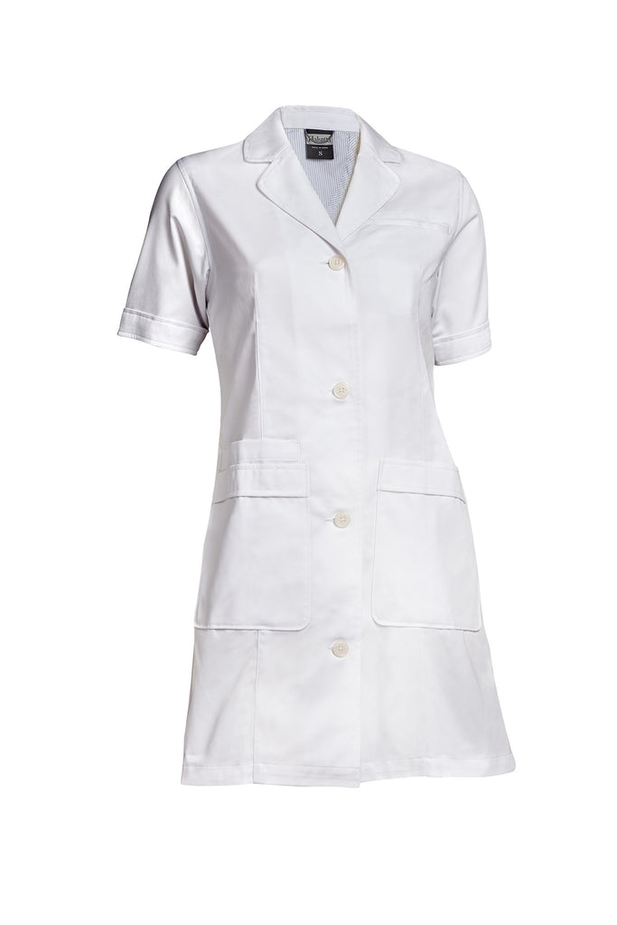 Women&39s Lab Coat Short Sleeve - White – Halsted