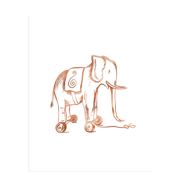 Toy Elephant Art Print