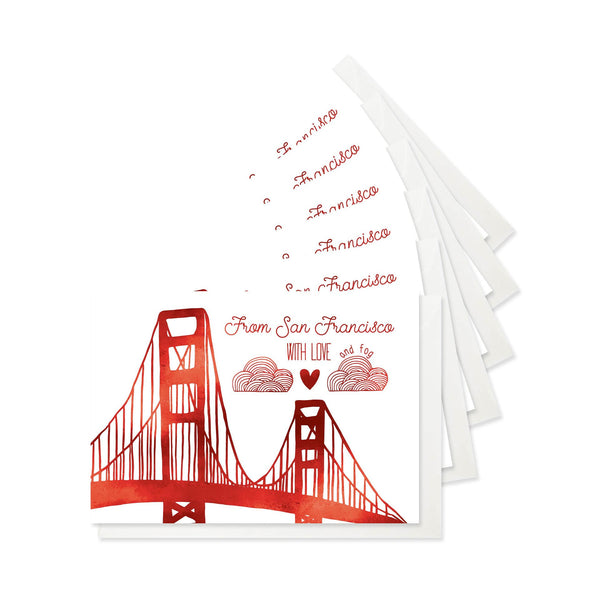 San Francisco Love Stationery - Boxed Set of Six