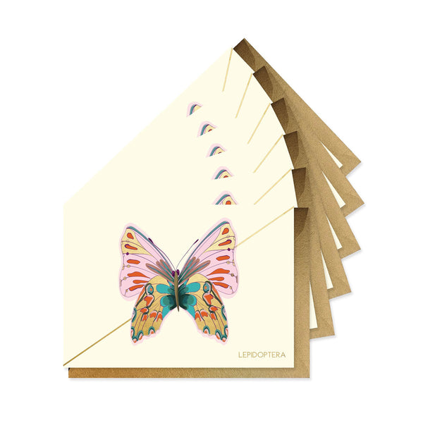 Rose Monarch Stationery - Boxed Set of Six