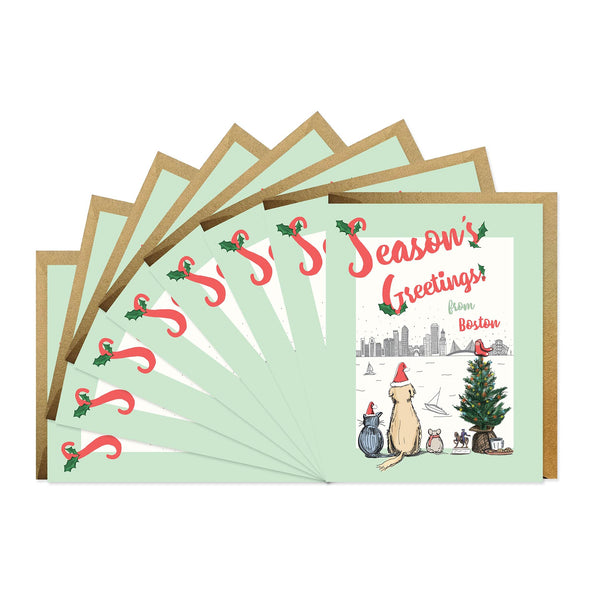 Season's Greetings From Boston - Boxed Set of Six