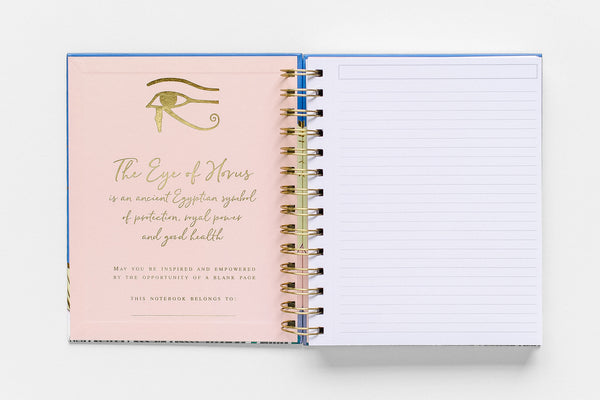 Eye of Horus Spiral Notebook