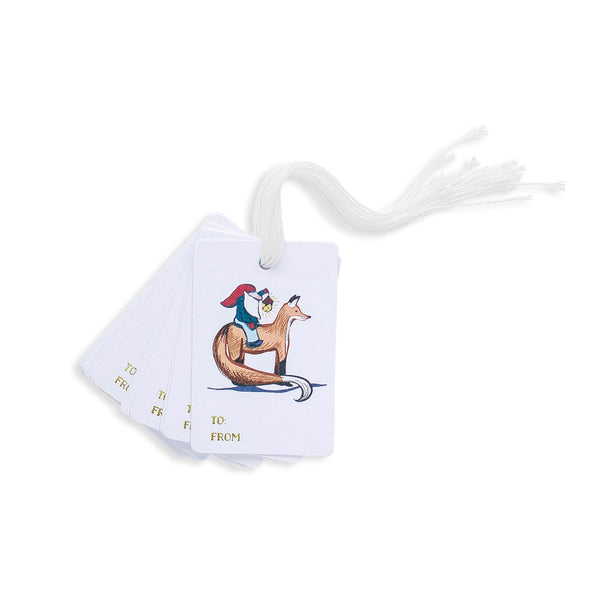Gnome and Fox Gift Tag Set